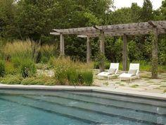 Landscape Architecture, Landscape Design, Garden Design, Pergola Plans, Diy Pergola, Pergola Ideas, Hampton Garden, Pool Water Features, Garden Fencing
