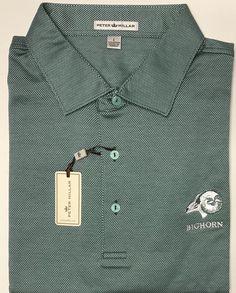 NEW Peter Millar Green Bighorn Golf Palm Desert CA Logo Cotton Polo Shirt Size L  | eBay