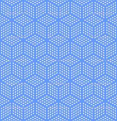 optical illusion art   Seamless geometric blue pattern. Optical illusion texture. Vector art.