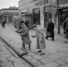 1956 - MARSZAŁKOWSKA RÓG WIDOK  Źródło (bez podania lokalizacji): Deutsche Fotothek / Schröter, Wolfgang G.
