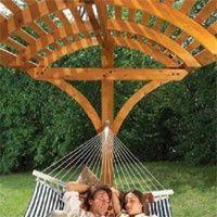 Hammock Pergola Designs   Plans to make a pergola type hammock stand. www.home-dzine.co... Home ...