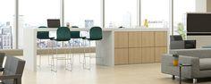 Haworth - X Series Cubbies Workspace Inspiration, Cubbies, Dining Bench, Storage, Interior, Range, Steel, Furniture, Building