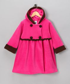 Take a look at this Pink & Brown Mary Jayne Coat - Infant, Toddler & Girls by Toasty Times: Outerwear & Gear on #zulily today!