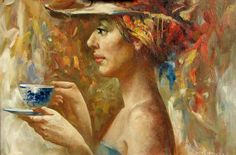 Art <3 (The Girl with a Dark Blue Cup, by Anatoliy Rozhansky)