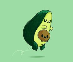 Trust is hard to come by. That's why my circle is small and tight. I'm kind of funny about making new friends. Avocado Cartoon, Avocado Art, Cute Avocado, Emoji Wallpaper, Wallpaper Iphone Cute, Cute Cartoon Drawings, Dibujos Cute, Jolie Photo, Cute Cartoon Wallpapers