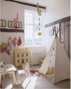 Kids Playroom Design Ideas. I'm going to make the tent!
