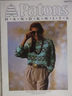 Patons Handknits pattern book no.1000 Ladies  jumpers sizes 8-20 http://stores.ebay.com.au/helenafashions