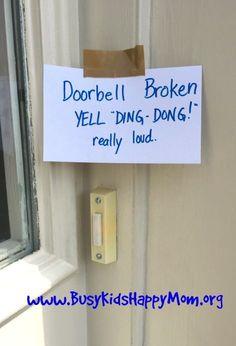 Simple April Fools Jokes for Kids  -- BROKEN DOORBELL