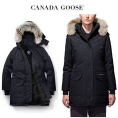 CANADA GOOSE ダウンジャケット・コート CANADA GOOSE Trillium Parka Fusion Fit 品のあるネイビー Canada Goose Women, Canada Goose Jackets, Parka, Winter Jackets, Fitness, Fashion, Winter Coats, Moda, Winter Vest Outfits