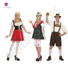 #Disfraces grupo #Tiroleses para adultos  #Disfraces para grupos y #comparsas descuentos especiales para #grupos.
