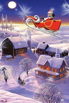 Merry Christmas Gif, 3d Christmas, Merry Christmas And Happy New Year, Beautiful Christmas, Xmas, Santa Pictures, Vintage Christmas Images, Snow Scenes, Cute Gif