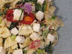 Pasta Salad With Feta, Sun-dried Tomato & Spinach - Kalofagas - Greek Food & Beyond