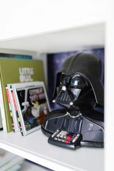 A little boy's Star Wars themed bookshelf // Darth Vader