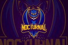 NOCTURNAL ESPORT LOGO by @Graphicsauthor