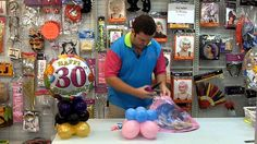 How to make a balloon centrepiece - Redcliffe Party Supplies idea for laila's birthday