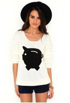 Padma Pig Jumper-knitwear-missguided