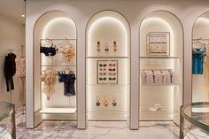 Dekor Lingerie Store Design, Shoe Store Design, Jewelry Store Design, Retail Store Design, Boutique Interior, Shop Interior Design, Cafe Design, Architecture Restaurant, Interior Design Presentation