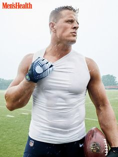NFL Superstar J. Watt Is Shirtless & Ripped for 'Men's Health'!: Photo Houston Texans NFL player J. Watt shows off his unreal shirtless torso on the cover of Men's Health magazine's October 2015 issue, on newsstands now! Texans Football, Football Players, Pittsburgh Steelers, Dallas Cowboys, Texans Players, Bulls On Parade, Justin James, Jj Watt, Le Male