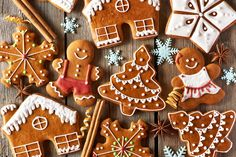 Christmas homemade gingerbread cookies by haveseen. Christmas homemade gingerbread cookies on wooden table Easy Gingerbread Cookies, Holiday Cookies, Gingerbread Man, Holiday Gifts, Ginger Bread Cookies Recipe, Cookie Recipes, Almond Cookies, Chocolate Cookies, Ginger And Cinnamon