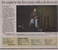 My first press as a comedian, April of 2010.  Thanks, Sacramento Bee!