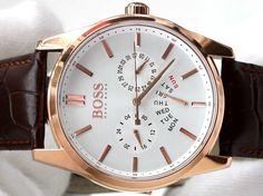 Hugo Boss Rose Gold Men's Watch with Calendar