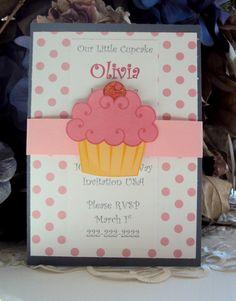 Cupcake  Invitation,Childrens Birthday Invitation