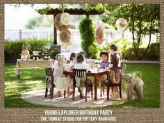 Young Explorer Birthday Party for Pottery Barn Kids