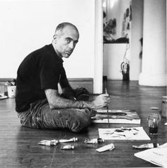 Clemente in his studio - Love his work. His exhibit at the Guggenheim was one of my all time favorites.