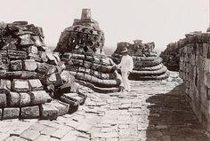borobudur temple during English occupation of Java