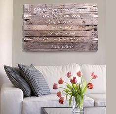 Wall Art! How To Create A Pallet Wood Wall Art Sign! | http://diyready.com/our-top-20-favorite-diy-projects-for-2014/
