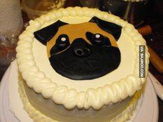 awesome pug cake design 23 Amazing pug themed cake designs