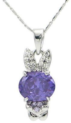 Precious Crystal Bunny Necklace (Purple) 2028801, http://www.amazon.com/dp/B005QSDRC4/ref=cm_sw_r_pi_awd_l2rfsb1ETSZH0