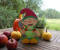 """Laterne Wichtel """"Tomte""""  (Martinslaterne) von fRAU kNUFFIG auf DaWanda.com"""