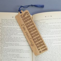 Bookmark - SHHHHH! Im reading. A fun and unique way to hold your place, these wooden bookmarks are the perfect addition to your library and make a