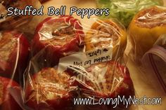 stuffed peppers - would use ground chicken/turkey
