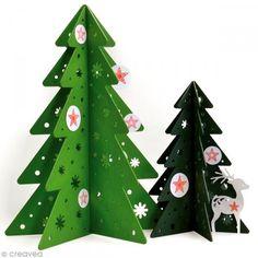 Mini sello transparente Árbol de Navidad y estrella de Navidad- Lámina 7 x 9 cm - sellos clear - Fotografía n°2