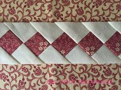 Tecnica Seminole de Patchwork Patchwork Tutorial, Patchwork Patterns, Quilted Table Runners, Quilting Designs, Pattern Blocks, Quilt Block Patterns, Quilt Blocks, Strip Quilts, Patch Quilt