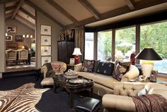 Woodland Residence traditional-living-room