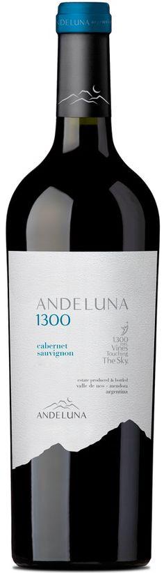"""Andeluna 1300"" Cabernet Sauvignon 2015 - Bodega Andeluna, Tupungato, Mendoza------------------Terroir: Gualtallary (Tupungato)-------------Crianza:  6 meses en barricas de roble francés y americano"