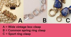 dating jewellery clasps