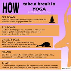 How To Take A Break In Yoga #health #fitness #wellness #exercise http://rootandsprouts.com