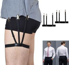 5016f1a43ea Pair Hidden Suspenders Keep Your Shirts Perfectly Tucked Adjustable Strap