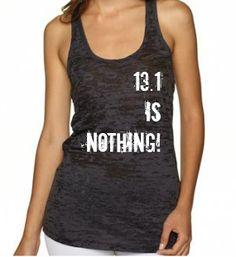 13.1 Marathon Burnout Tank Custom Womens by EmeraldThreadz on Etsy, $24.99