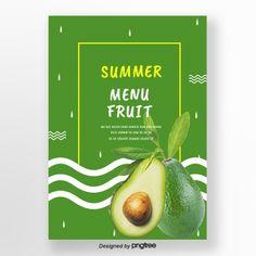 Green summer avocado fresh background Template Blueberry Fruit, Banana Fruit, Pineapple Fruit, Orange Fruit, Flyer And Poster Design, Poster Layout, Ice Cream Poster, Avocado Ice Cream, Food Graphic Design