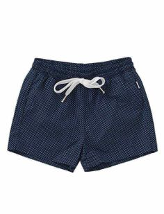 Boys swimming shorts from Il Gufo. Stylish beachwear for kids in nautical look!