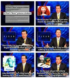 I love how Colbert points out the ridiculousness news stories the media comes up with.