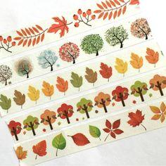 Washi Tape Fall Autumn Leaves Thanksgiving Trees