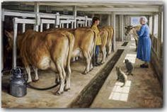 Robert Duncan Artist  My dad had milking cows!
