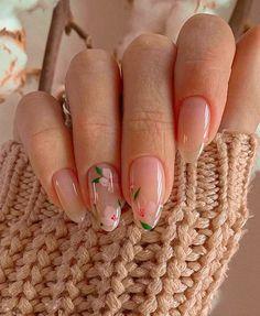 Best Acrylic Nails, Acrylic Nail Designs, Unique Nail Designs, Fruit Nail Designs, Shellac Nail Designs, Natural Nail Designs, Pretty Nail Designs, Nail Designs Spring, Simple Designs