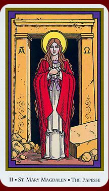 St. Mary Magdalene (the Papesse) - Tarot of the Saints - rozamira tarot - Picasa Web Albums
